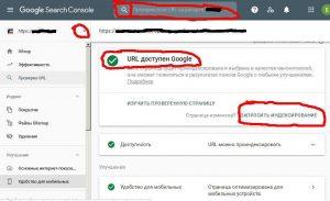 Как сделать индексацию сайта в гугл, проверка url